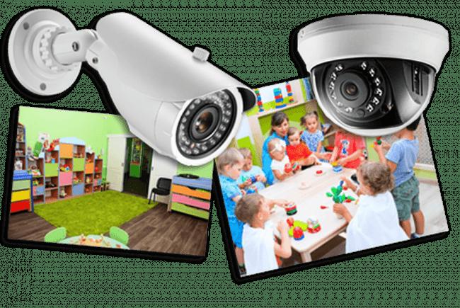 Установка видеонаблюдение в детский сад